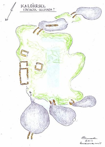 Kaldársel - fjárhellar