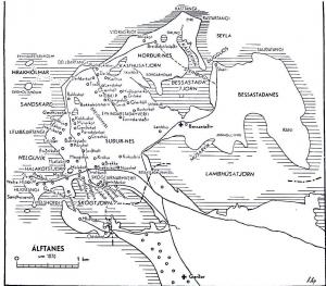 Álftanes - kort 1870