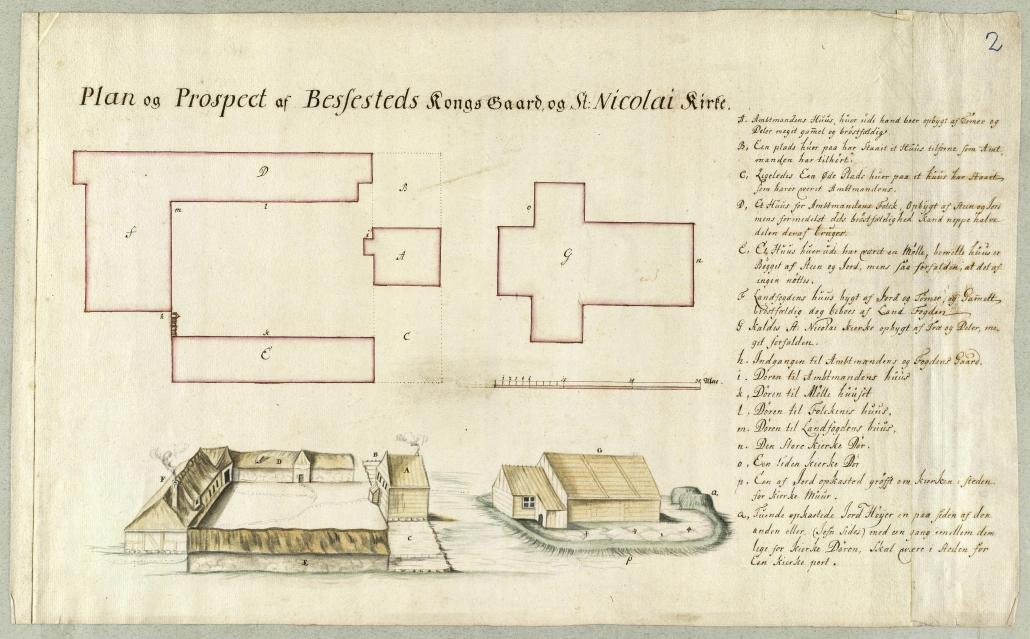 Bessastaðir 1720