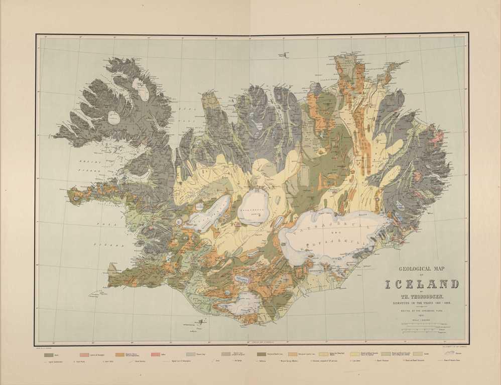 Islandskort