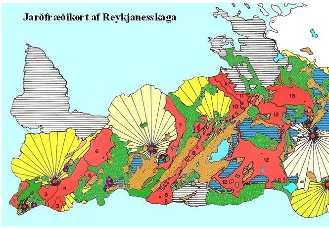 Reykjaneskagi - jarðfræði